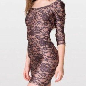 Sexy American apparel Brown Low Back Lace 2000s XS